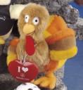 "7"" - 8"" Laying Beanies Turkey"