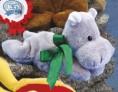 "7"" - 8"" Laying Beanies Hippo"